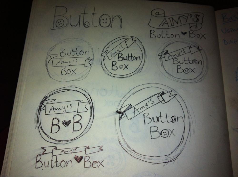 Amy's Button Box Logo Design
